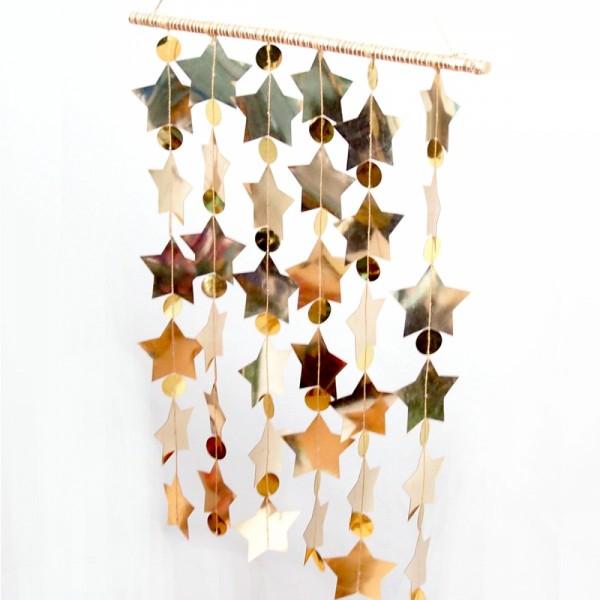 Wand Dekoration Star gold