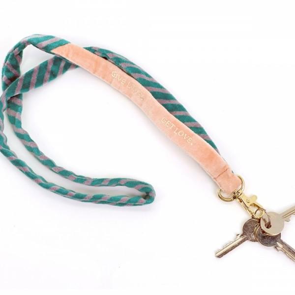 Schlüsselband Lanyard Stripe Give Love