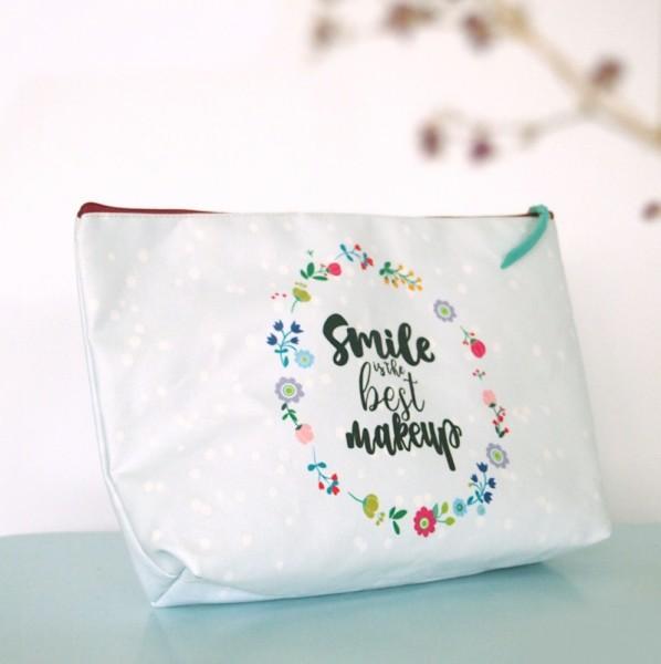 Kosmetiktäschchen Canvas Smile