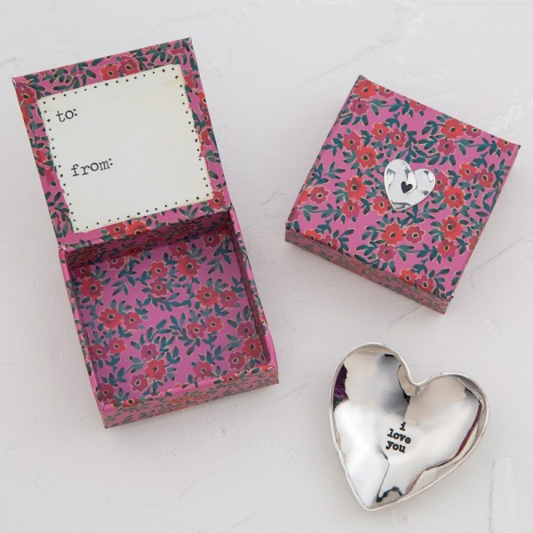 Mini Schale Silver Token in Geschenkbox Love