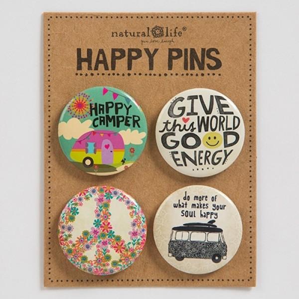 Pin Set Happy Camper