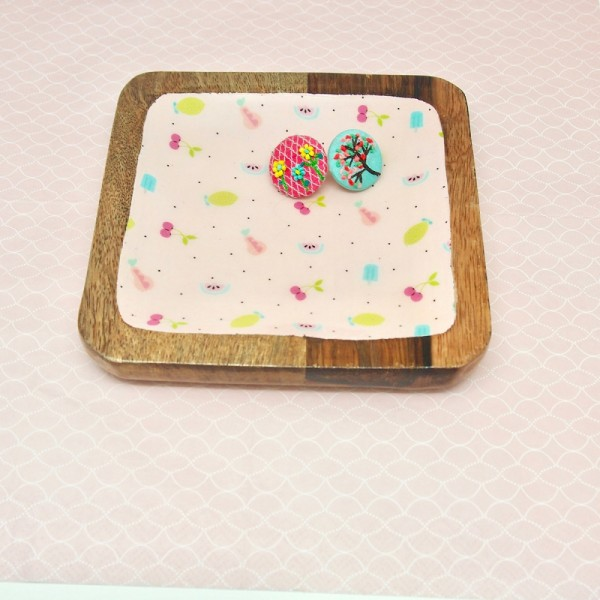 Holztablett square Yammi Set3