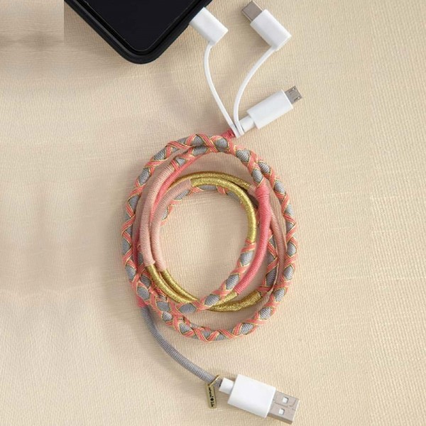 Ladekabel 3in1 Cord Pink Gold