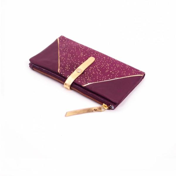 Portemonnaie HK zip Leder Kosmos