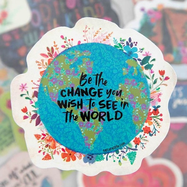 Sticker Be the change