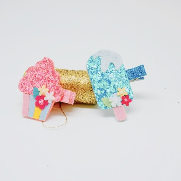 Haarclip Glitter Yummi Set