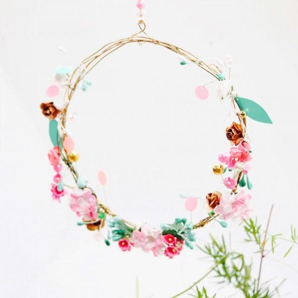 Dekoration Flowercircle Vintage