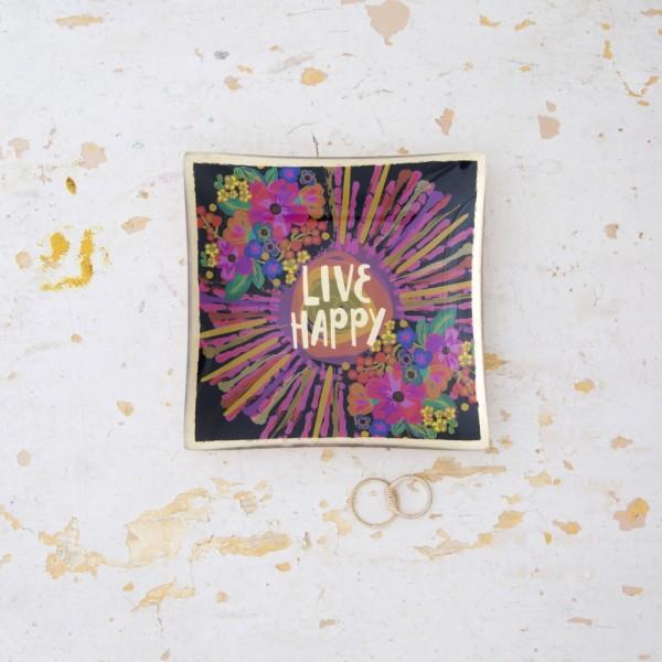 Glasschälchen Live Happy