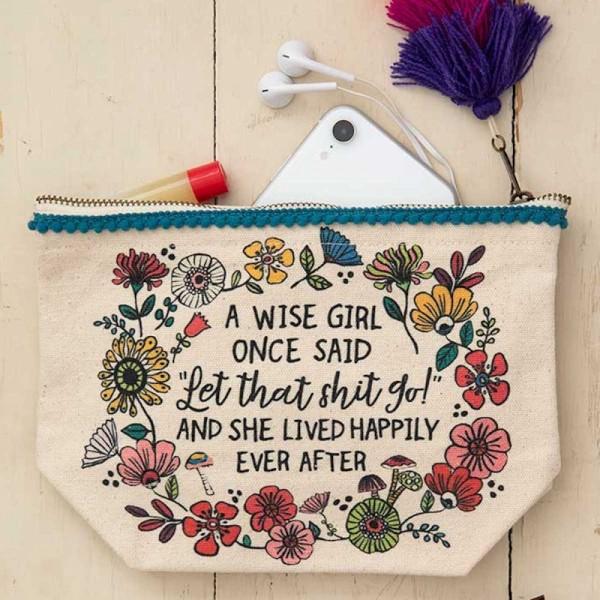 Täschchen Canvas A Wise Girl