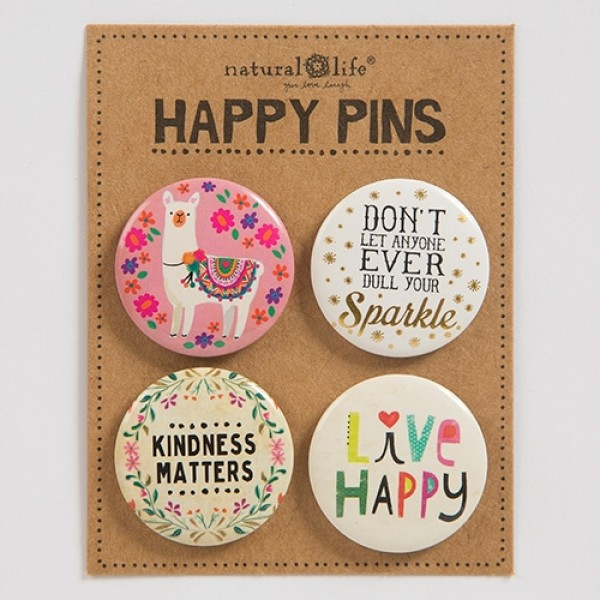 Pin Set Happy Kindness Matters