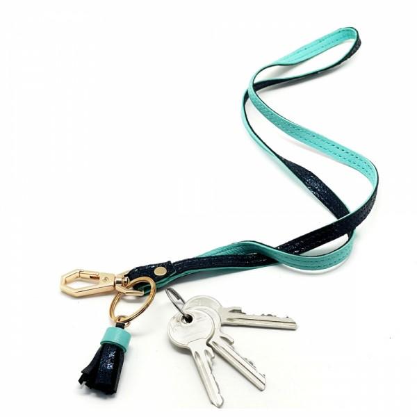 Schlüsselband BUBBLE long teal