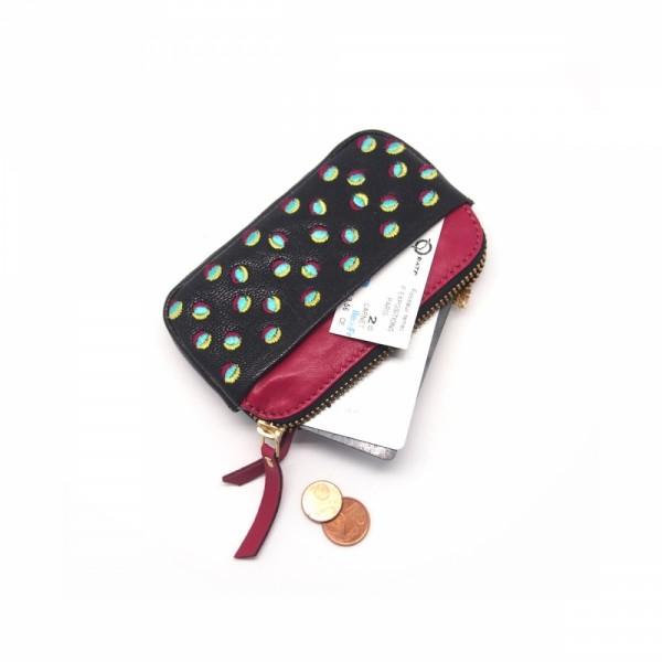 Portemonnaie mini zip 20 Doubledot Black