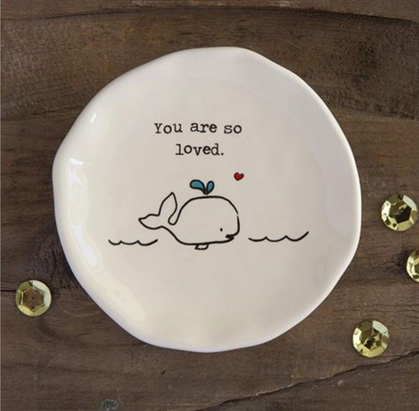 kleine Keramikschale- Fish