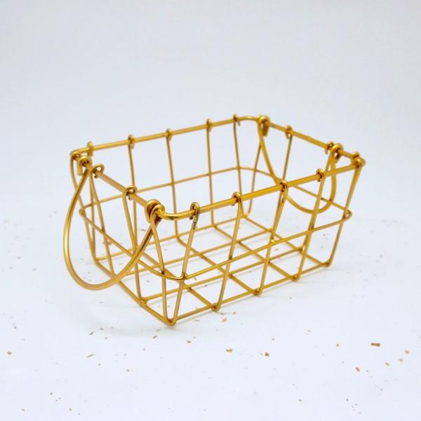 Mini Metallkörbchen gold