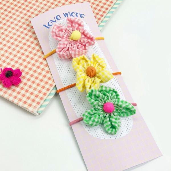Haargummi Garden Flower set/4