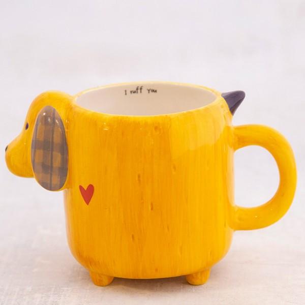 Tasse Folk Art Yellow Dog