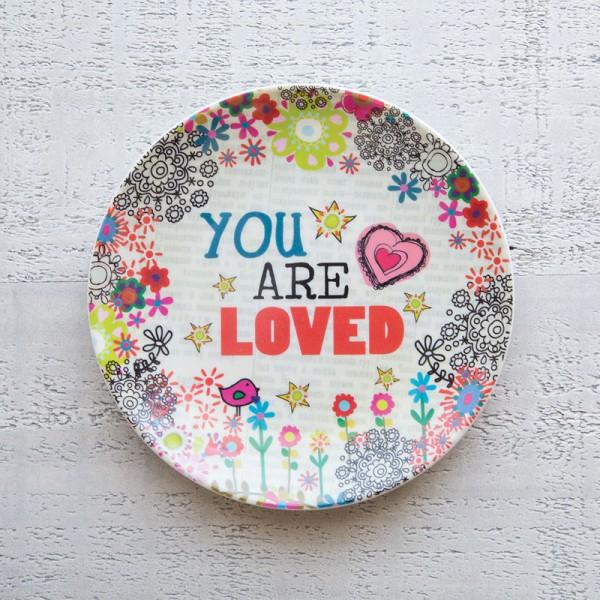 Mini Melamine Plt You are Loved