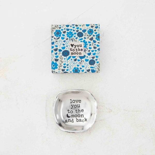 Mini Schale Silver Token in Geschenkbox Moon