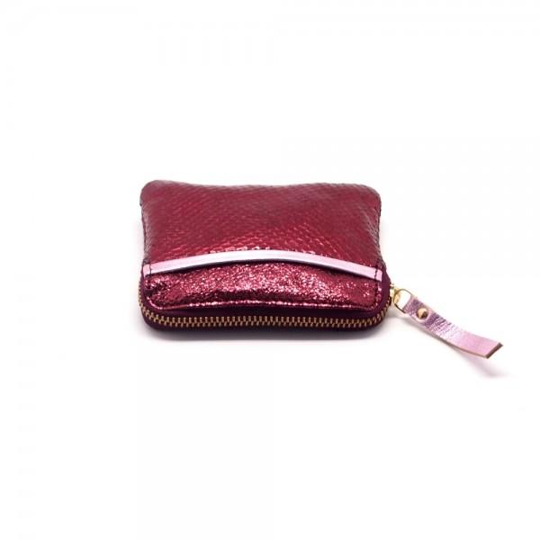 Mini zip Portemonnaie Leder Sleek