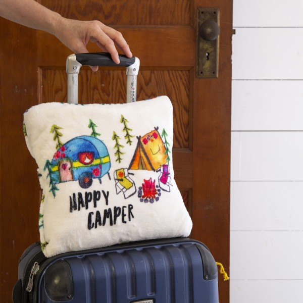 Decke Kissen Set Happy Camper
