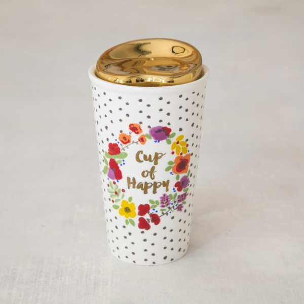 Thermobecher Keramik Cup of Happy