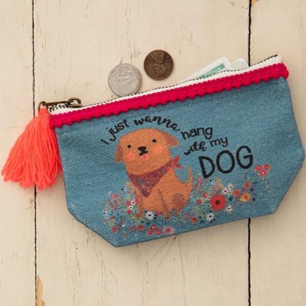 Mini Täschchen Canvas Hang With Dog