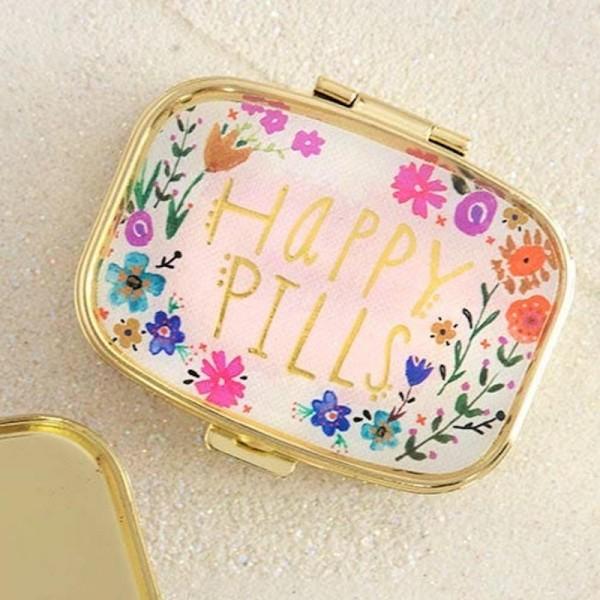 Tablettendöschen Happy Pills Pink Floral