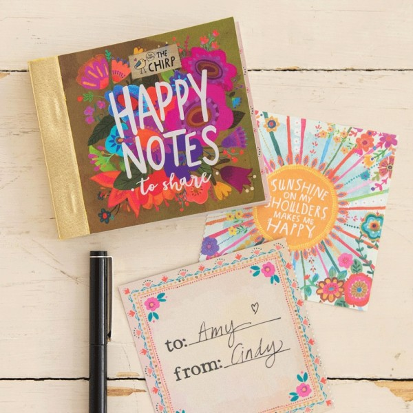 Buch Happy Notes Mustard Floral