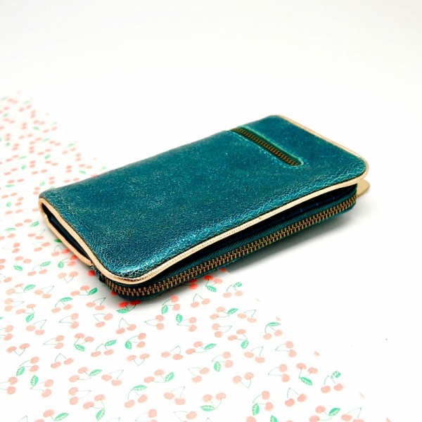 Portemonnaie folded Bubble metallic