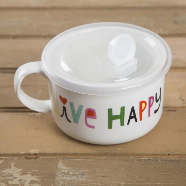 Tasse Souper Mug Live Happy