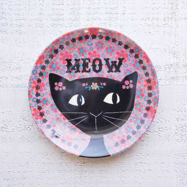 Mini Melamine Plt Cat Meow