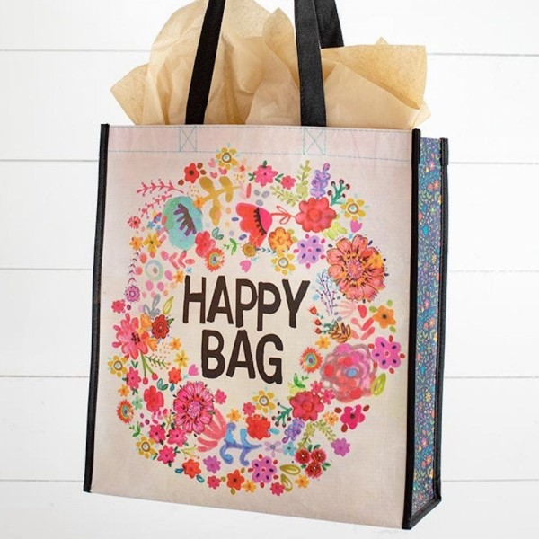 Recycle Tasche L Happy Bag Floral Kranz