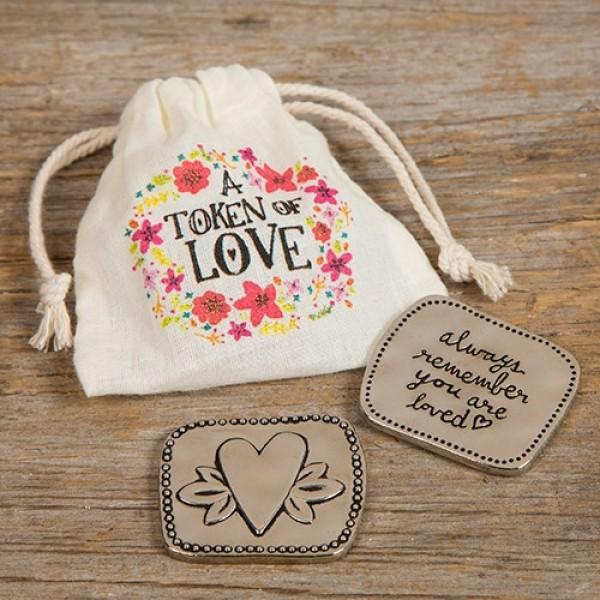 Glücksbringer im Geschenkbeutel Love