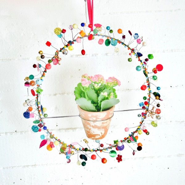 Dekoration FUNKEL Circle Flowerpot