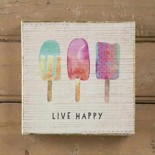 Wandbild  Live Happy