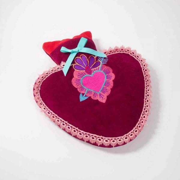 Wärmflasche Heart rasberry