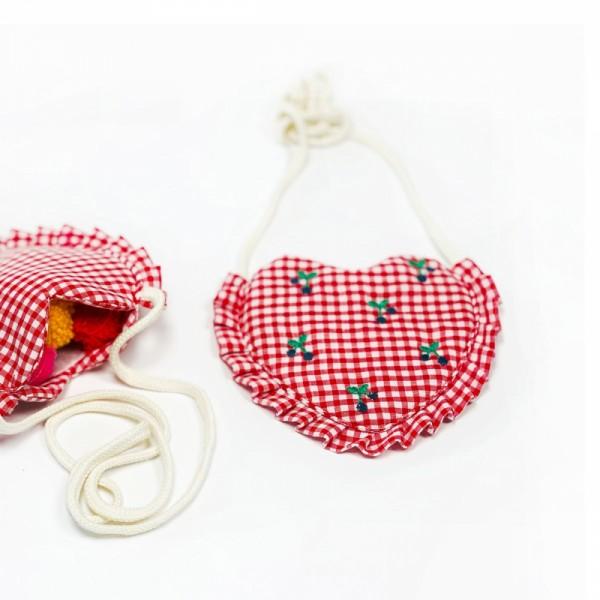 Täschchen Kid´s Heart Vichy rot