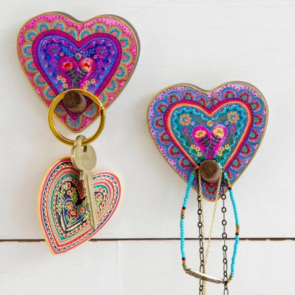 Wandhaken Garderobe Heart Set2