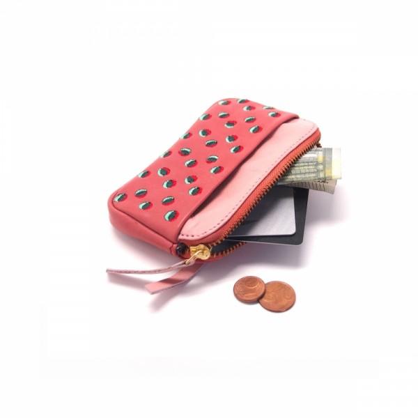 Portemonnaie mini zip 20 Doubledot salmon