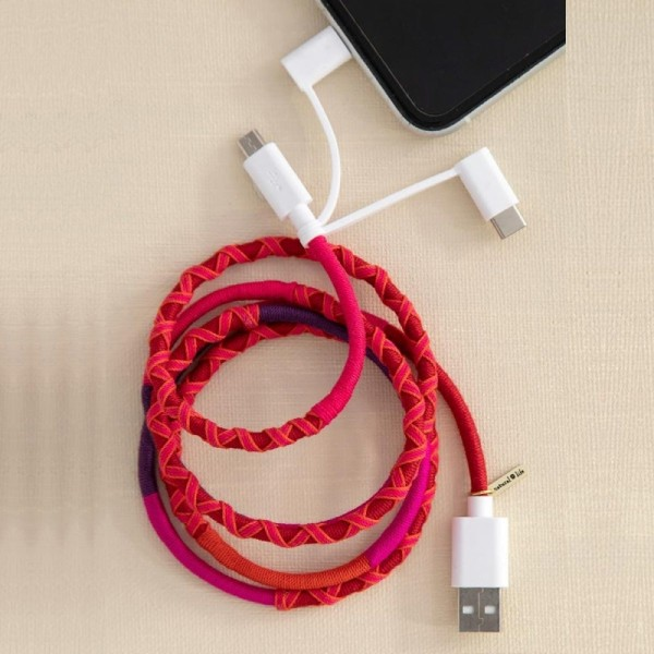 Ladekabel 3in1 Cord Pink Red