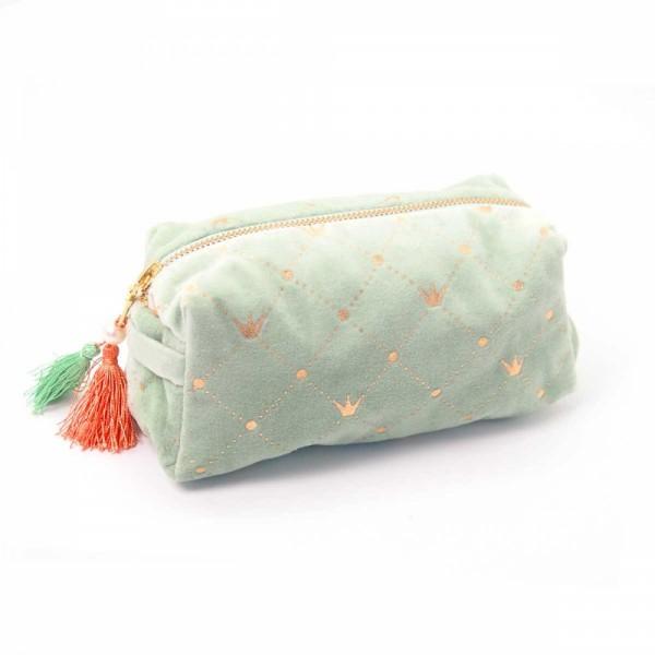Kosmetiktasche Crown pistachio S