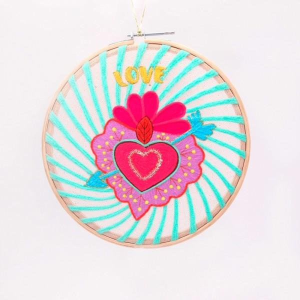 Wanddekoration LOVE heart