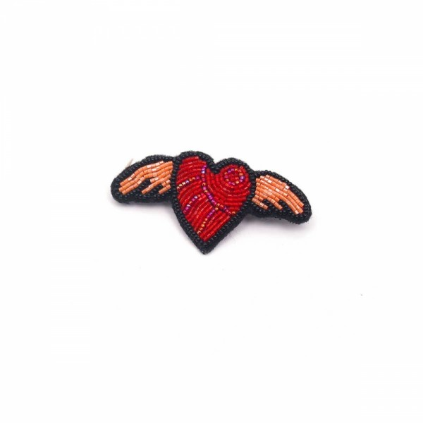 Brosche/Pin Bead Heart