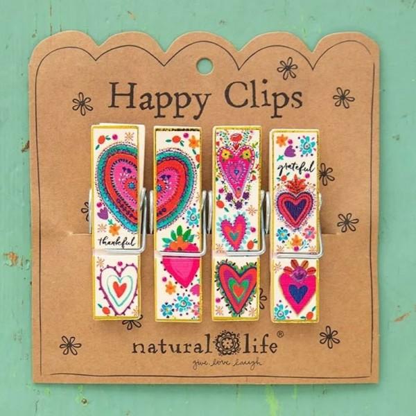 Wäscheklammern Happy Clips S/4 Hearts