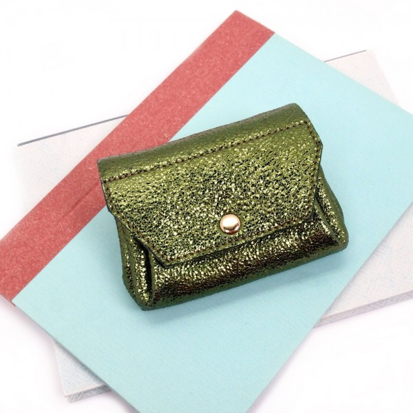 Portemonnaie Bubble 2flap mini olive
